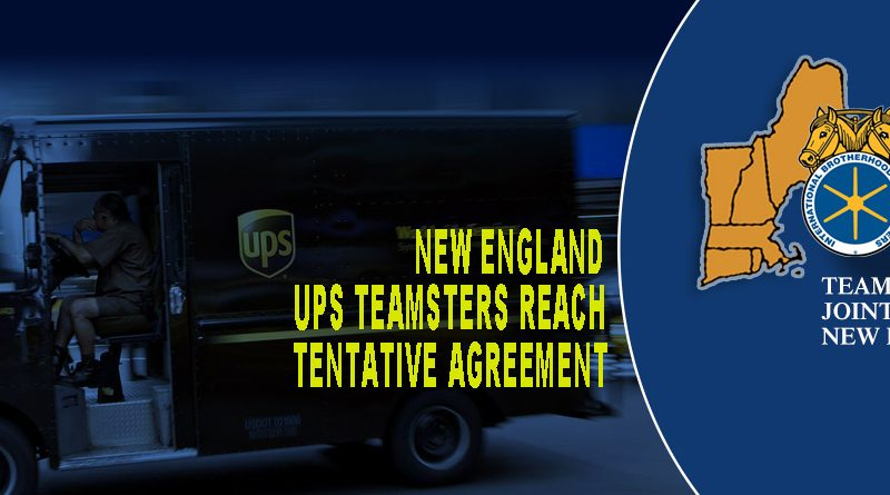 Joint Council 10 Ups Teamsters Reach Tentative Agreement With Ups On