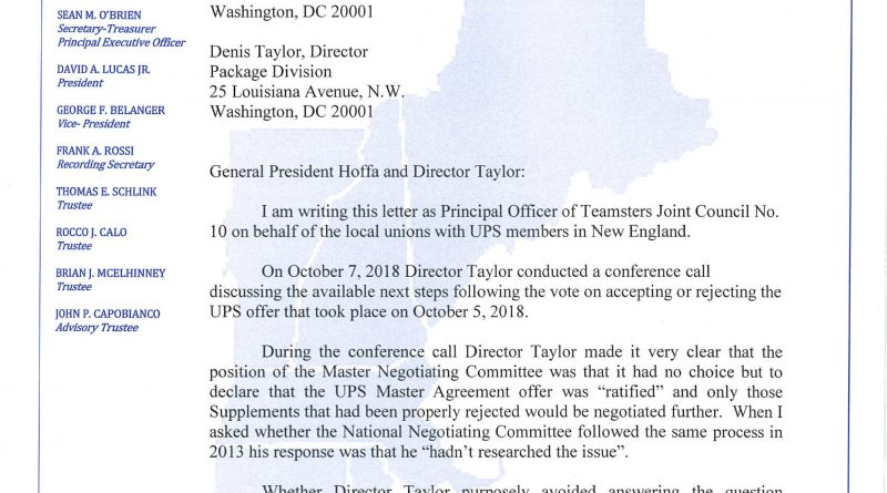Jc10 News Teamsters Joint Council 10 New England