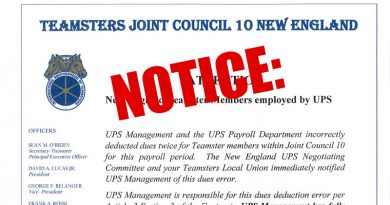 ATTENTION New England Teamsters employed by UPS