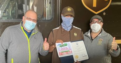 LOCAL 251 UPS DRIVER RECOGNIZED BY THE WEST BROADWAY NEIGHBORHOOD ASSOCIATION